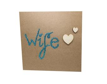 Wife Card Valentines Anniversary Birthday Wedding Card