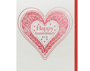 Heart Anniversary Card