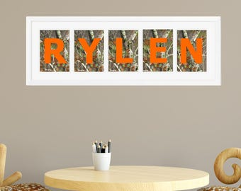 Camo Room Decor - Hunting Decor - Personalized Name Print - Boy or Girls Room Decor - Camo Nursery - Hunting Art Individual 4x6, 5x7, 8x10