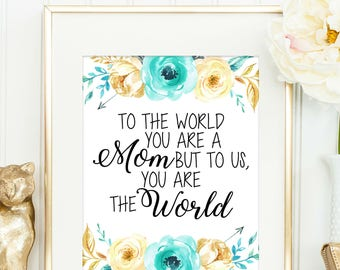 Gift for Step Mom - Gift for Mom - Mothers Day Gift for Grandma - Birthday Gift for Mom - Mothers Day Gift - Mother's Day Quote - Wall Art