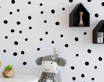 Hand Drawn Dot Decals - Polka Dot Wall Decal - Spots Wall Decor - Polka Dot Wall Stickers - Baby Room Decal - Polka Dot Decal - Peel & Stick