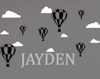 Hot Air Balloon Nursery Decals, Hot Air Balloon Decorations, Hot Air Balloon Wall Decal