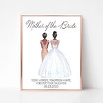Personalized Mother of the Bride Print, Mother of the Bride Gift, Wedding Gift for Parents, Bride Mother Gift, Wedding Gift Idea