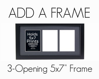 3 opening 5x7 frame collage picture add 3opening 5x7 opening 5x7 frame etsy