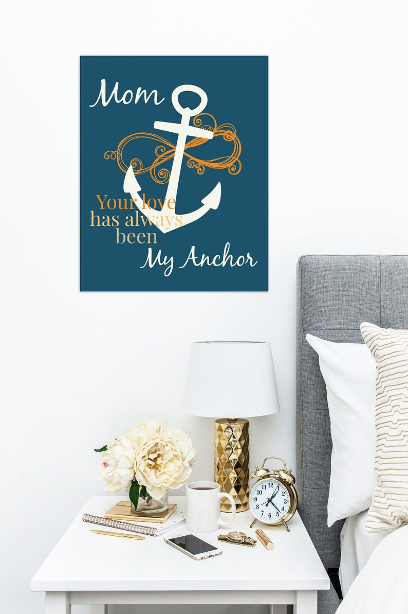 Gift For Mom GIft Under 20 Mothers Anchor Print