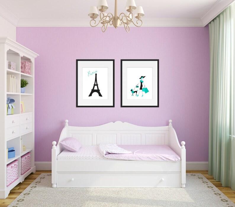 Paris Bedroom Decor, Paris Wall Art, Teen Room Decor, Fashion Print,  Fashion Art, Girls Room Decor, Set of 2 Prints