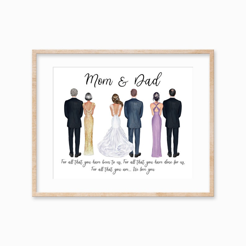 Parents of the Bride and Groom Print Father of the Bride image 0
