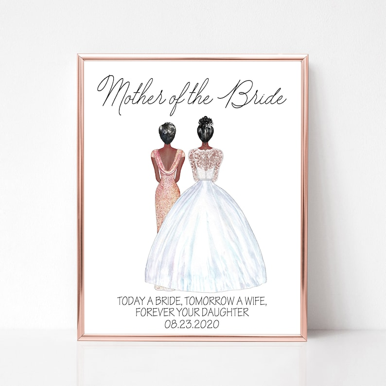 Personalized Mother of the Bride Print Mother of the Bride image 0