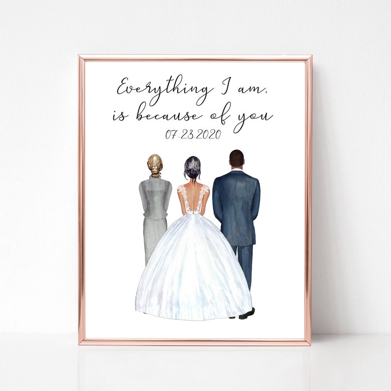 Personalized Parents of the Bride Print Mother of the Bride image 0