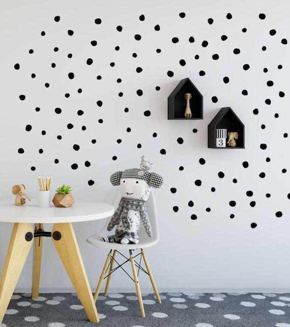 hand drawn dot decals polka dot wall decal spots wall | etsy