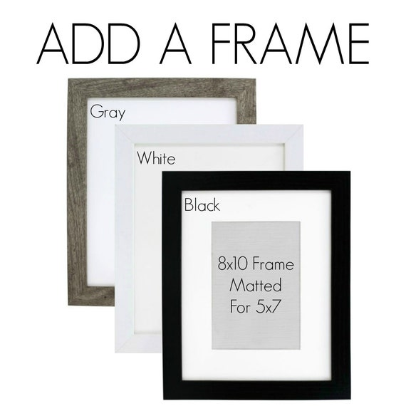 ADD a FRAME to your order Black Gray or White Frames | Etsy