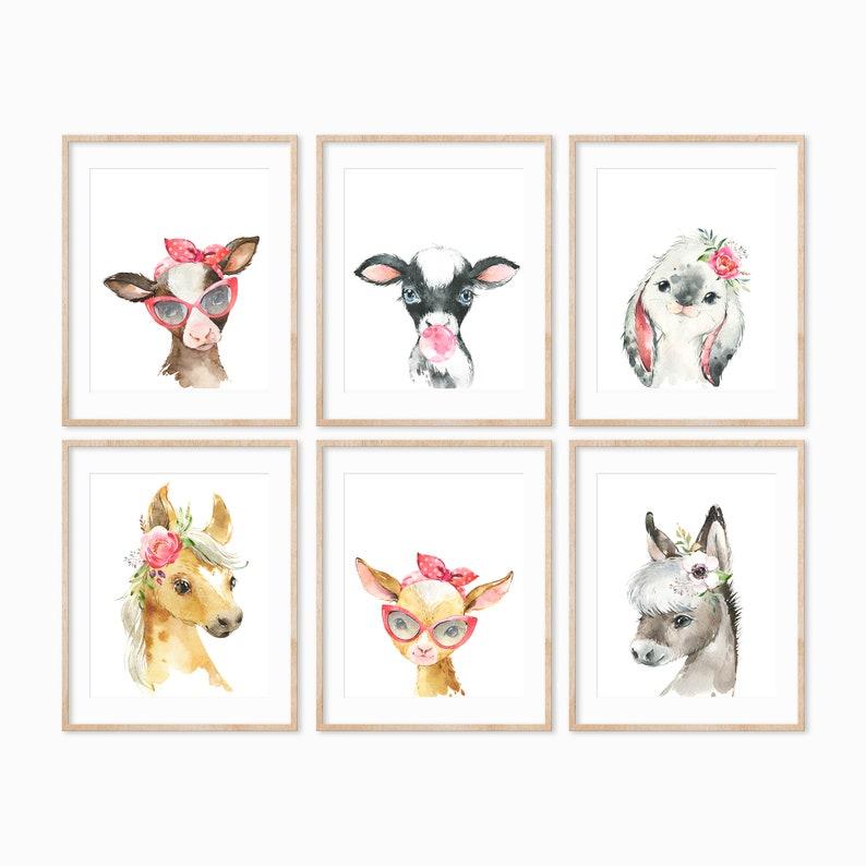 Farm Animal Nursery Prints Farm Animals Nursery Decor image 0