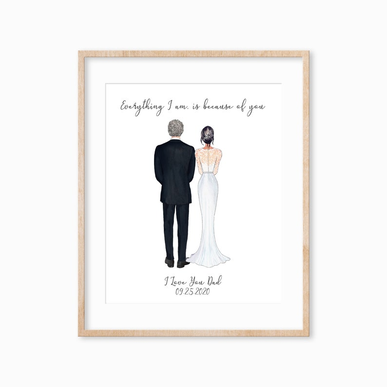 Personalized Father of the Bride Print Father of the Bride image 0