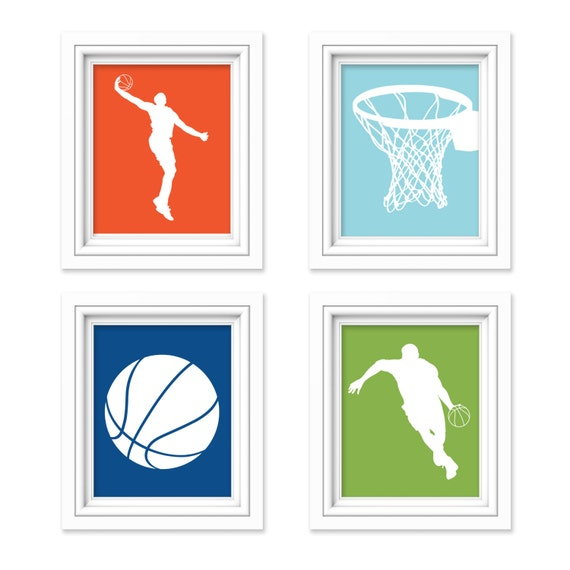 Boys Basketball - Boys Sports Bedroom Decor - Boy Sports Decor - Basketball  Print - Teen Room - Children Room - Playroom Decor - Kid Room