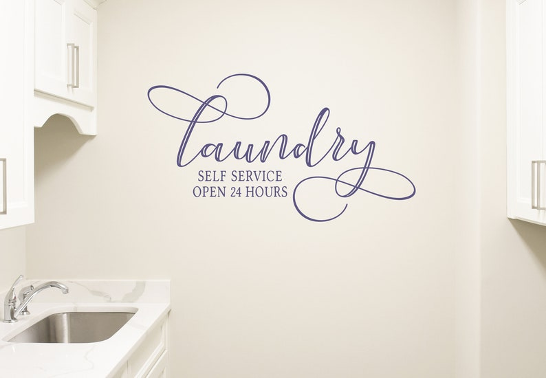 Laundry Room Wall Decal Laundry Room Wall Decor Self Service image 0