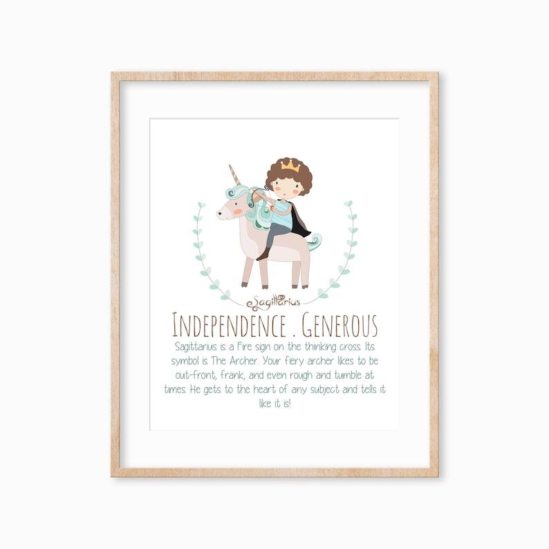 Sagittarius Zodiac Sign Print Kids Rooms and Baby ...