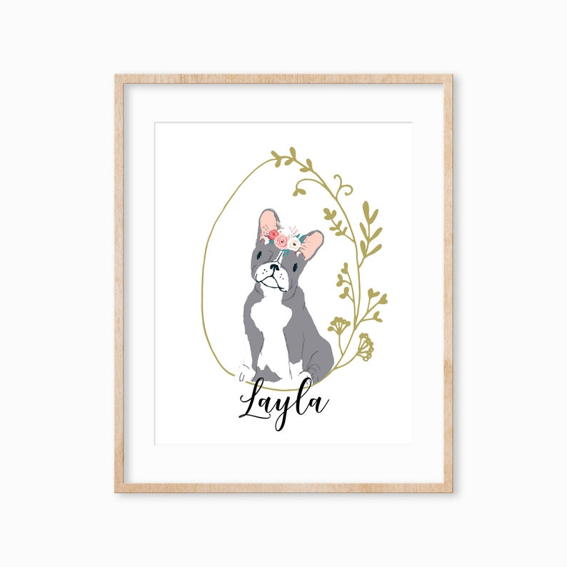 Personalized Pet Print Pet Remembrance Gift Dog Lover Gift image 0