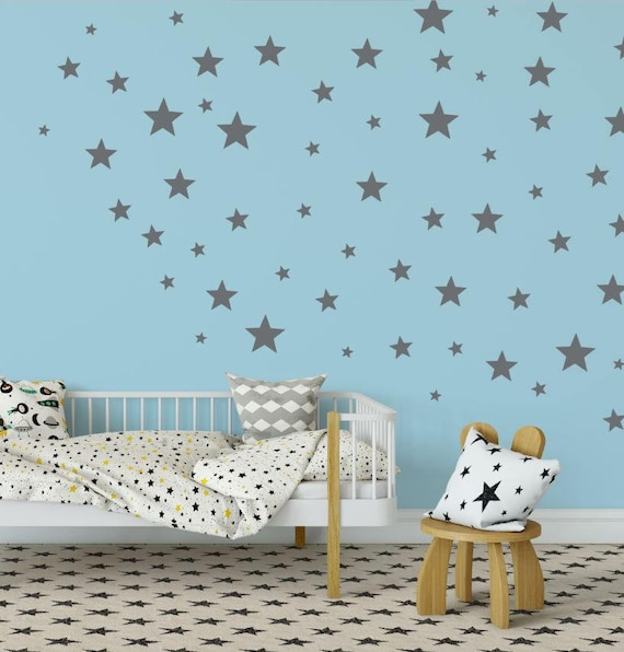 Star Wall Decals Star Wall Stickers Kids Wall Decoration Etsy