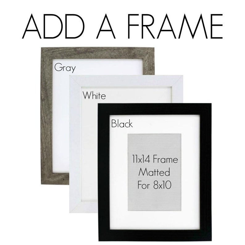ADD a FRAME to your order  Black Gray or White Frames image 0
