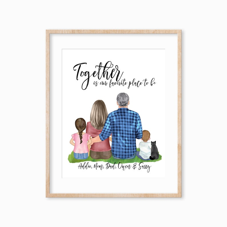 Personalized Family Portrait with Kids Family Portrait with image 0