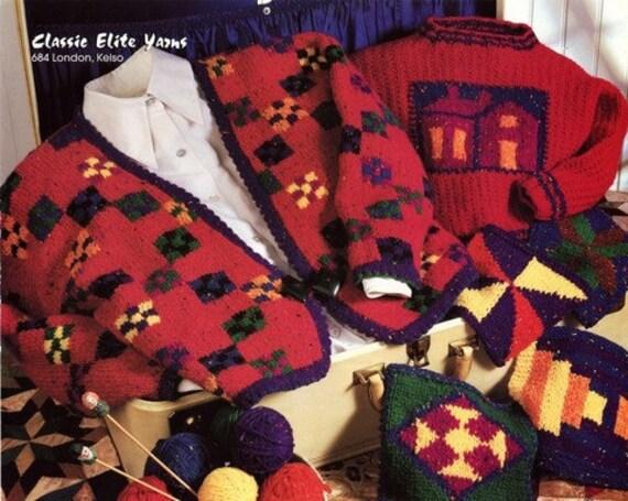 Vests Classic Elite Yarns Knitting Pattern #683 Merrimack Valley Journey Cardi