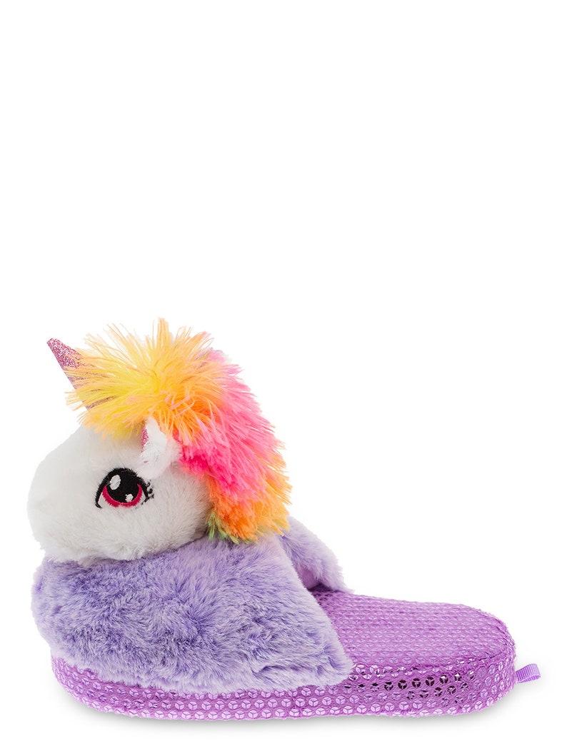 NWT Wonder Nation Girls 3D Unicorn Scuff Slipper Sz 11-1