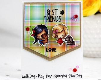 Best friends Love puppy card