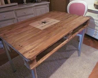 "Pallet dining table ""star kitchen"" pallet furniture pallet table***"