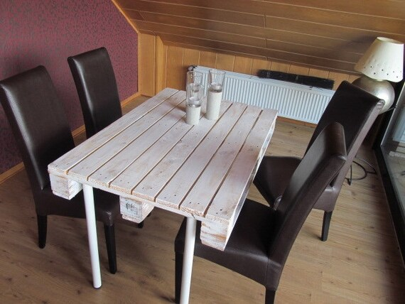 Palettentisch Design Dining Table Shabby White Etsy
