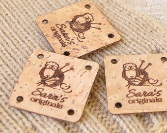 Cork Leather Labels