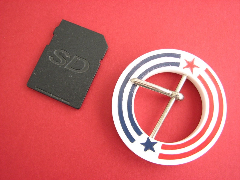 for 28 mm belts Round belt buckle with stars and stripes