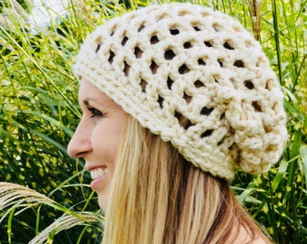 Adult Slouch Hat, Slouch Hat, Beanie, Crochet Slouch Hat, Adult Hood Hat, Teen Slouch Hat