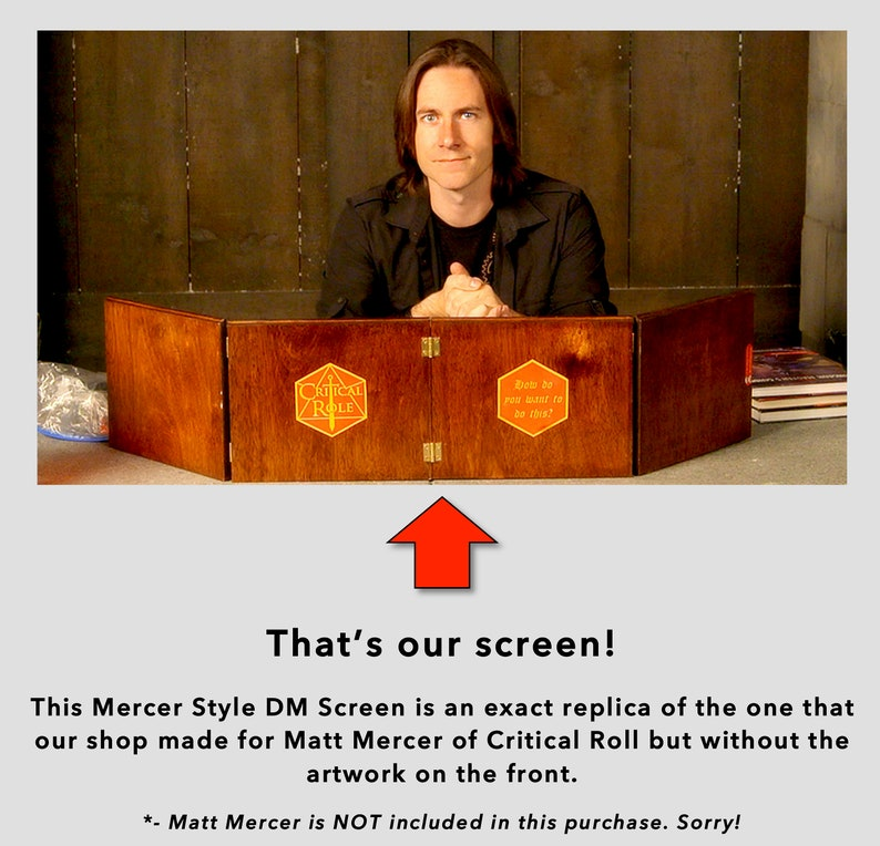 Pre-Order for a Mercer Style Polished Wood DM Screen (Dungeon Master for  Dungeon & Dragons RPG)