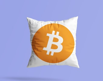 Cushion Great Gift Giving BITCOIN CRYPTO Spun Polyester Square Pillow square Pillow Case Perfect for the Crypto fan