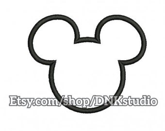Mickey Mouse Disney Embroidery Design - 5 Sizes - INSTANT DOWNLOAD