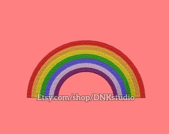 Rainbow Embroidery Design - 5 Sizes - INSTANT DOWNLOAD
