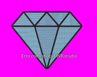 Glamour Diamond Embroidery Design - 5 Sizes - INSTANT DOWNLOAD
