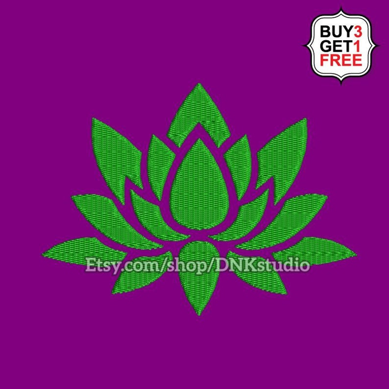 Lotus Flower Embroidery Design - 5 Sizes - INSTANT DOWNLOAD