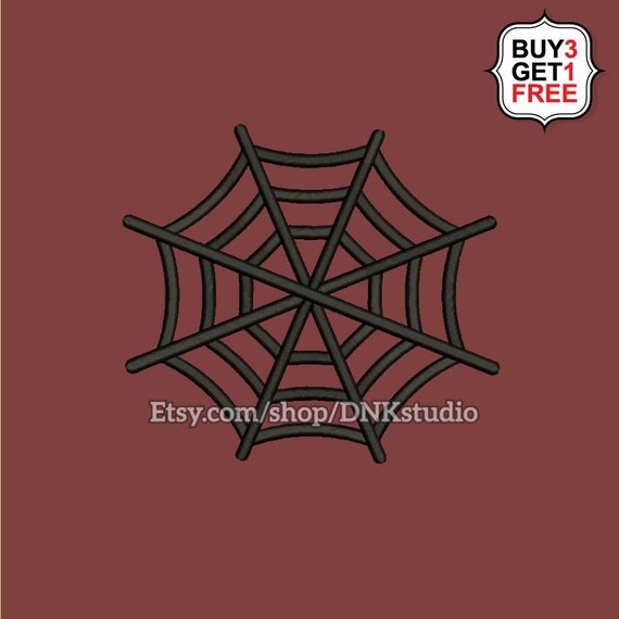 Spiderweb Embroidery Design 6 Sizes Instant Download Etsy