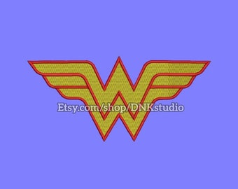 Wonder Woman Machine Embroidery Design - 6 Sizes - INSTANT DOWNLOAD