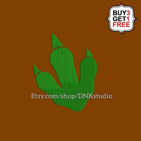Dinosaur Velociraptor Raptor Footprint Embroidery Design - 6 Sizes -  INSTANT DOWNLOAD