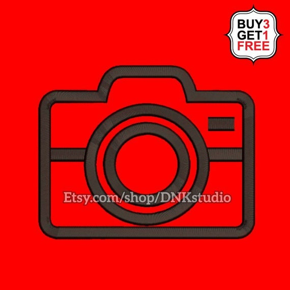 Camera Embroidery Design - 5 Sizes - INSTANT DOWNLOAD