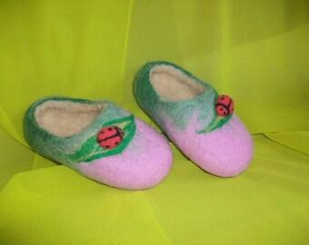 Felted slippers.Children.