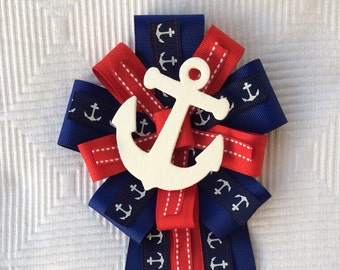 Baby Shower Corsage Nautical Sailing Anchor