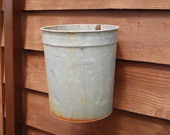 Galvanized Sap Bucket, Vintage 3 Gallon Sap Pail, Tall Galvanized Sap Bucket, Vintage Planter
