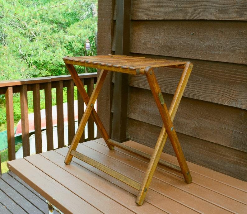 Sensational Folding Camp Table Vintage Oak Take Along Table Travel Chair Company Thomasville Ga Frankydiablos Diy Chair Ideas Frankydiabloscom