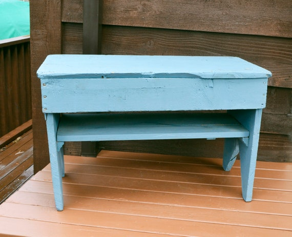 Fine Large Blue Bench Vintage Country Bench Shabby Blue Bucket Bench Porch Seat Unemploymentrelief Wooden Chair Designs For Living Room Unemploymentrelieforg