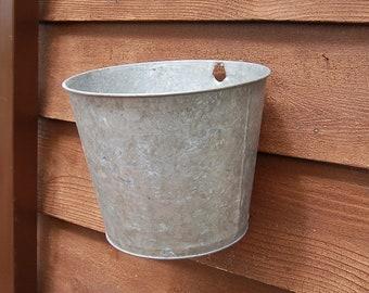 Galvanized Sap Bucket, 2 Gallon Sap Bucket, Flower Bucket, Galvanized Sap Bucket, Galvanized Planter