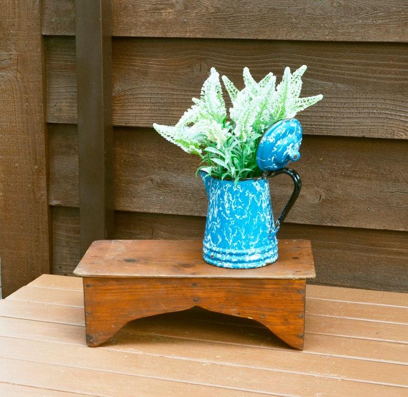 Phenomenal Antique Low Wooden Bench Pumpkin Pine Foot Stool Low Step Stool Primitive Raiser Uwap Interior Chair Design Uwaporg