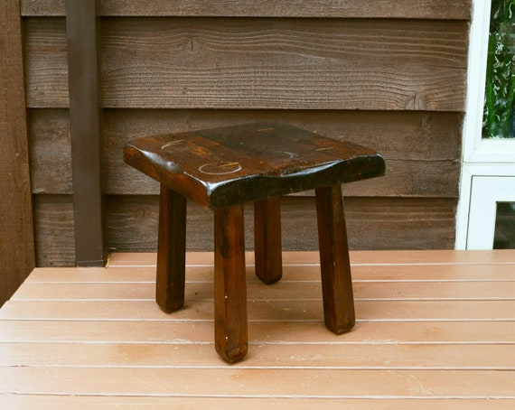 Outstanding Wooden Stool Vintage Chimney Mountain Craftsman Stool Gmtry Best Dining Table And Chair Ideas Images Gmtryco